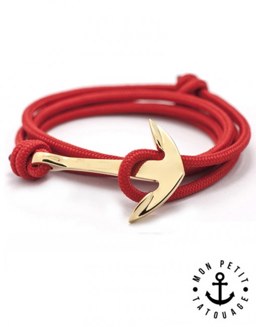bracelet-corde-ancre-marine-rouge-or-510