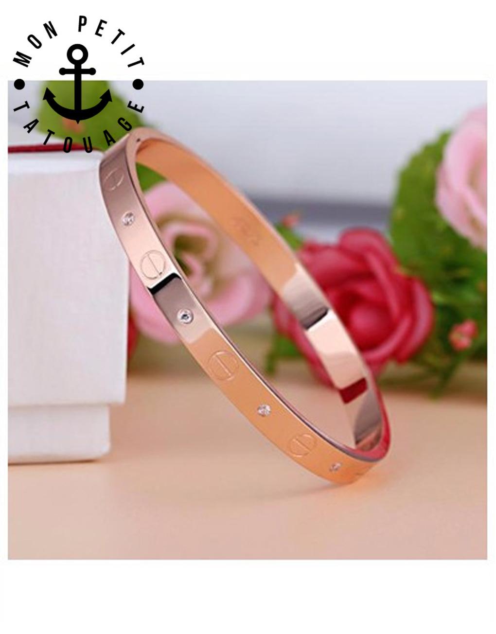 Bracelet Jonc Vis Love Or Jaune, Or rose, Argent - Femme   Mon Petit ... 0c9181a20ccd