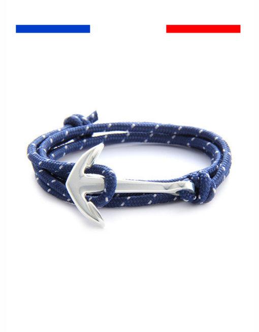 bracelet-ancre-marine-bleu-mouchete-blan
