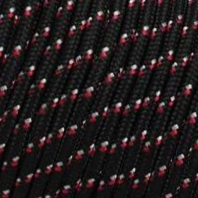 Corde 3mm Noir Moucheté Blanc Rouge Marin