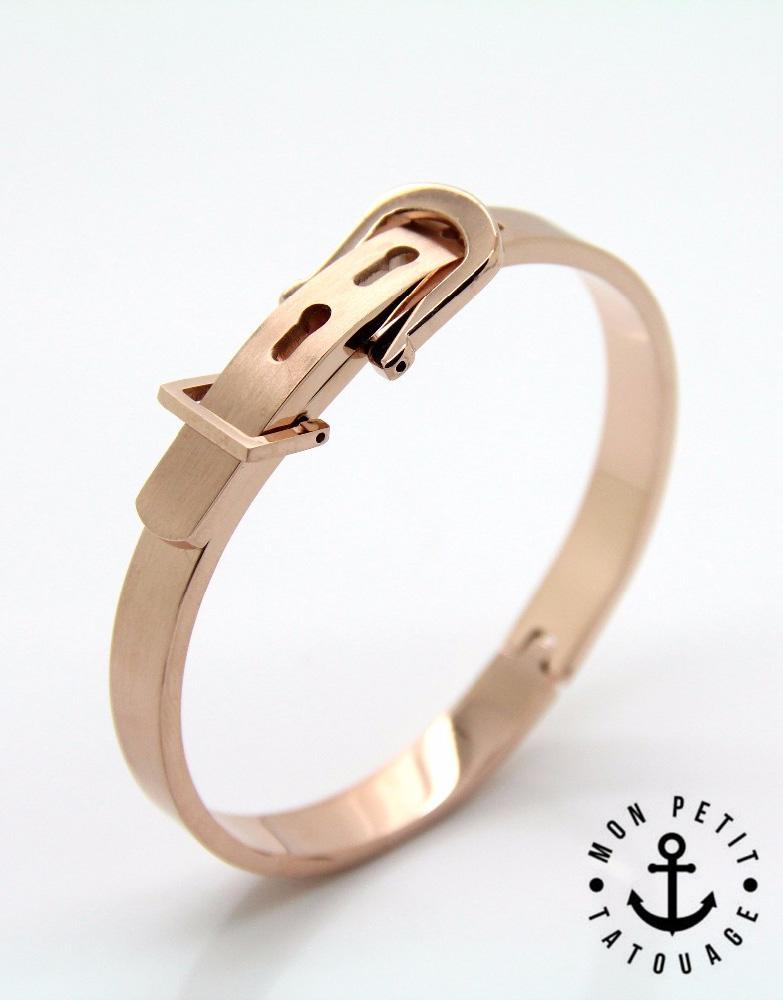 Bracelet Jonc Boucle Ceinture Love Or Jaune, Or rose, Argent - Femme ... 8c78a956e063