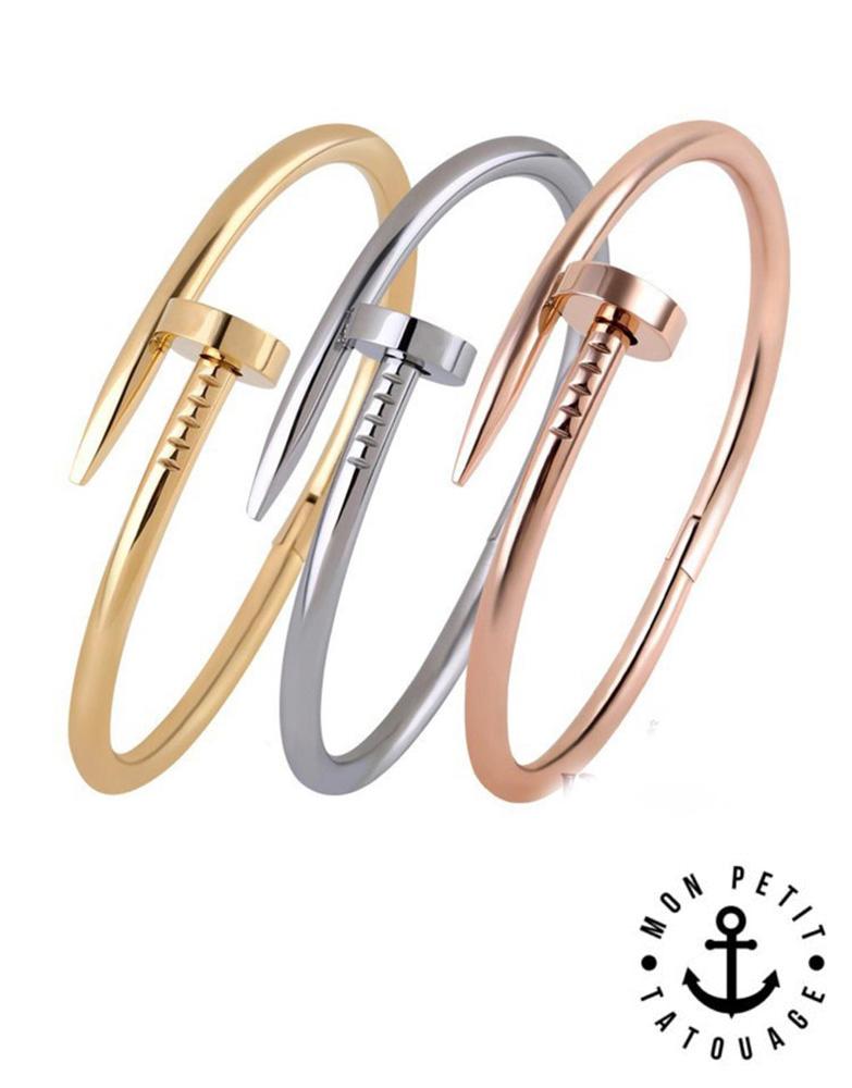 bracelet femme clou