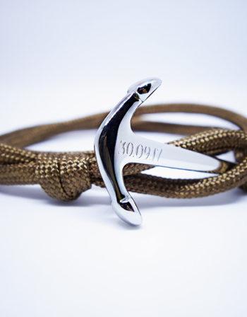 Personnalisation Bracelet ancre acier Homme Femme