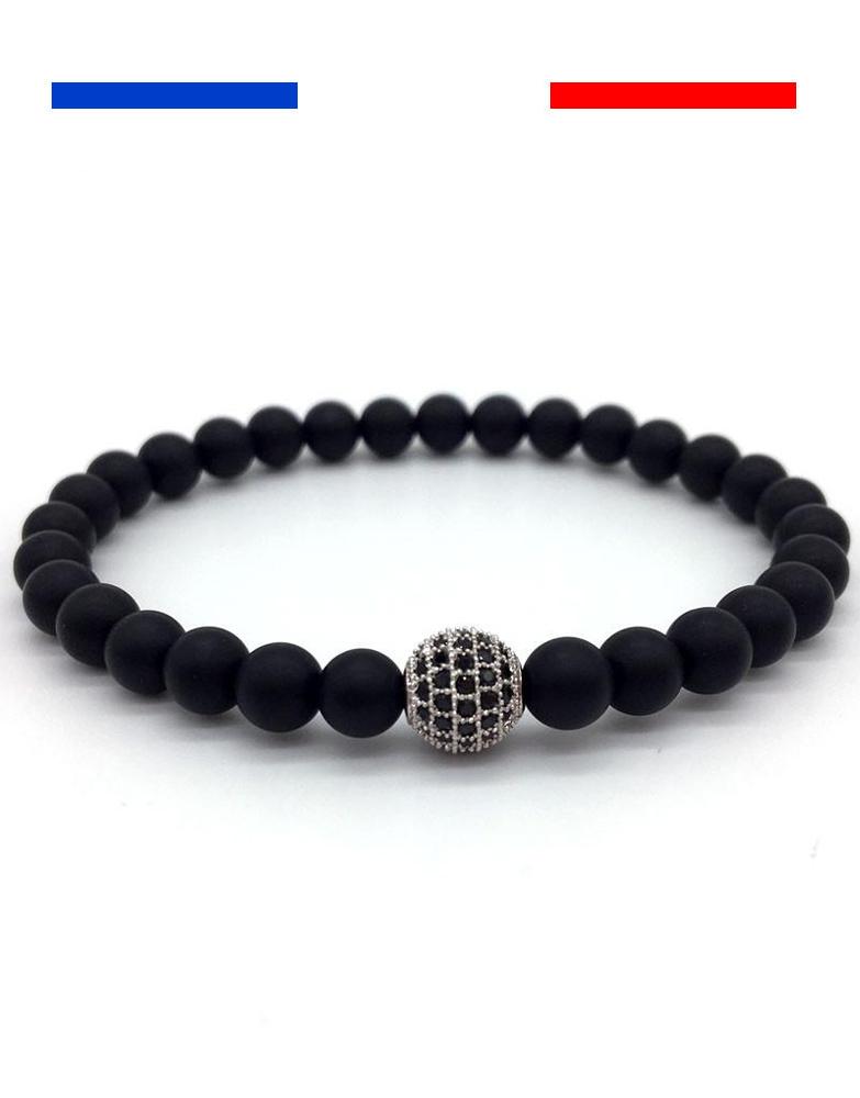 bracelet boule lifestyle noir argent mon petit bracelet. Black Bedroom Furniture Sets. Home Design Ideas