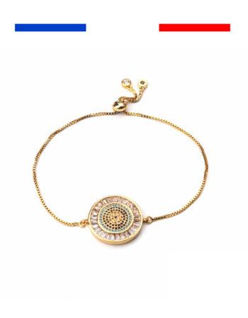 bracelet mauvais œil or jaune